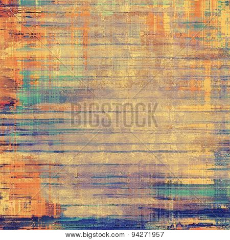 Weathered and distressed grunge background with different color patterns: yellow (beige); brown; blue; cyan
