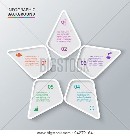 Vector star for infographic.