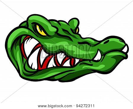 Alligator mascot, team label design.