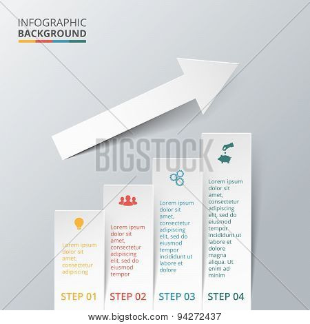 Vector elements with arrow for infographic.