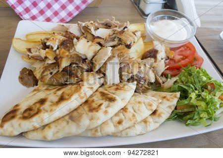 Pork Gyros In A Plate Offset