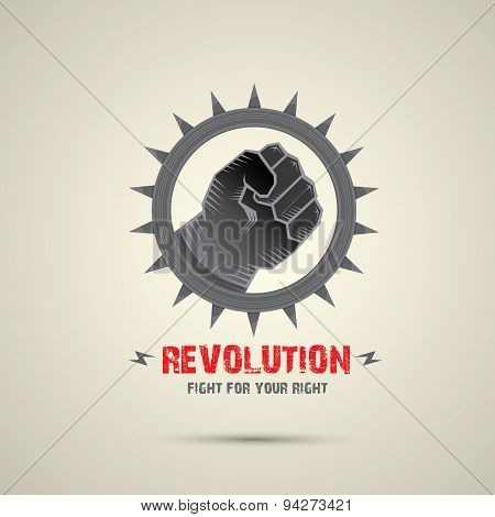 clenched fist. vector fist icon. revolution fist.