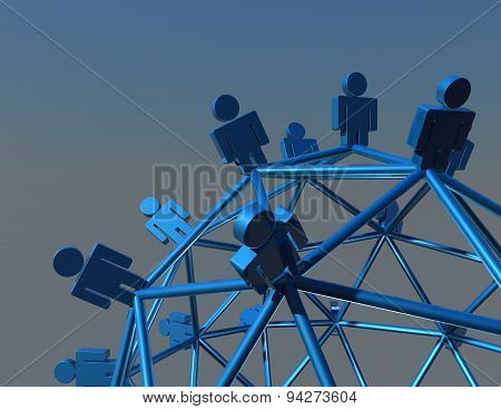 Network Marketing Abstract Background Illustration