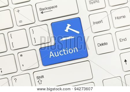 White Conceptual Keyboard - Auction (blue Key)