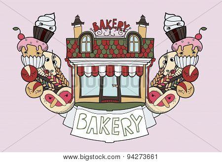 Bakery shop doodles
