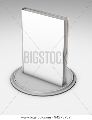 Blank White Standing Book Marketing Presentation Template