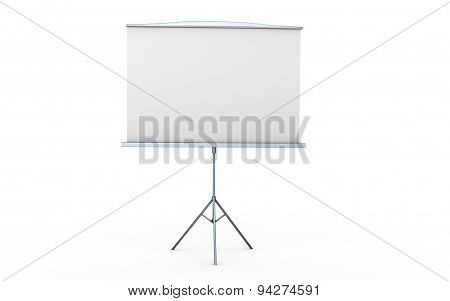 Simple Display Screen Isolated Illustration
