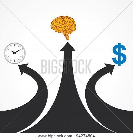 Three ways for successful business stock vector