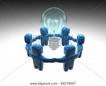 Team Solving Business Problems Concept Illustration