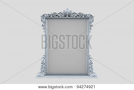 Empty Painting Frame Isolated Illustration