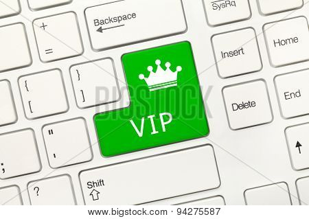 White Conceptual Keyboard - Vip (green Key)