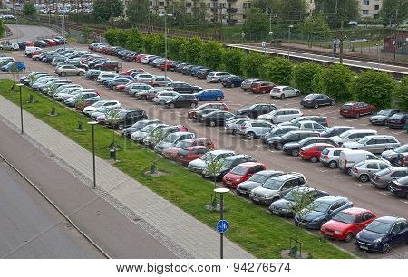 Car Parking By The Train Station