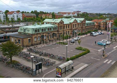 Front Entrance Halmstad Central Train Station