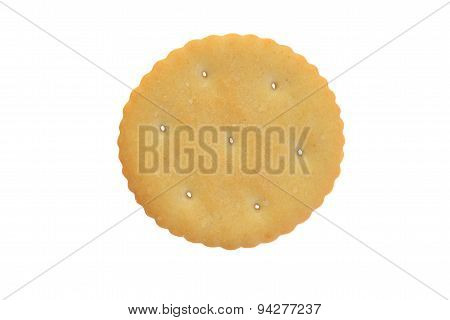 top view small round cracker