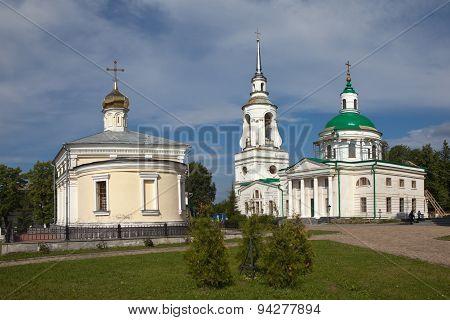Verkhoturye. Transfiguration Church and St. Nicholas.