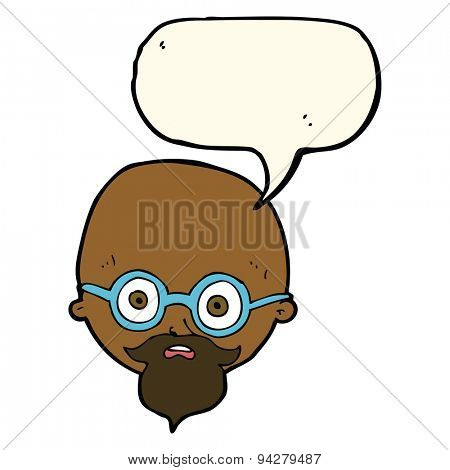 cartoon shocked man with beard with speech bubble