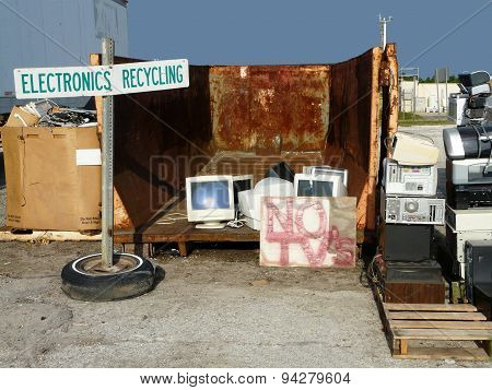 Electronics Recycling At Landfill