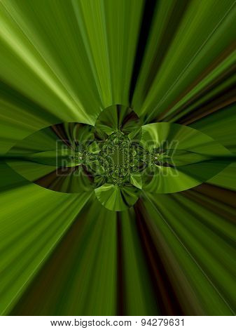 Wild Geranium Green Abstract