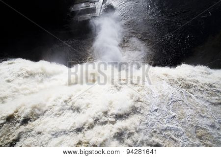 Strong current of Waterfall