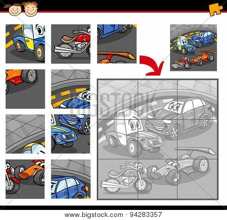 Cars Cartoon Jigsaw Puzzle Game