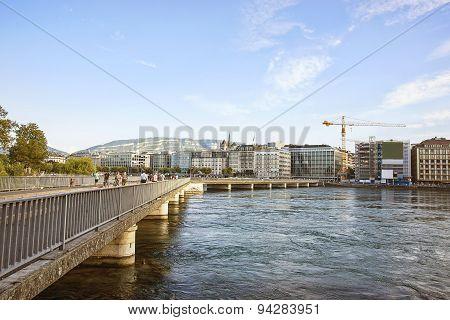 Geneva Lake Embankment In Summer