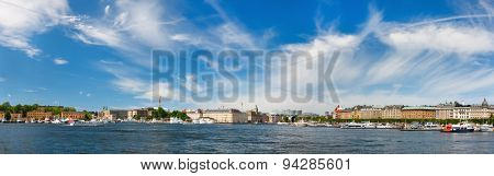 Panorama of a central Stockholm, Sweden,  Europe