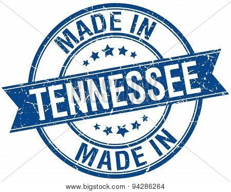 Made In Tennessee Blue Round Vintage Stamp