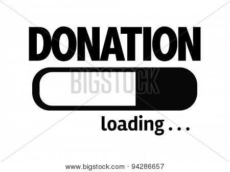 Progress Bar Loading with the text: Donation