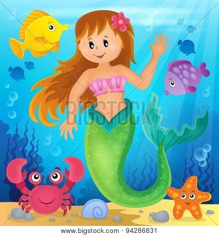 Mermaid theme image 2 - eps10 vector illustration.