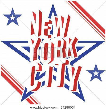 New York City Retro Vintage Typography Poster, T-shirt Printing Design, Vector Badge Applique Label