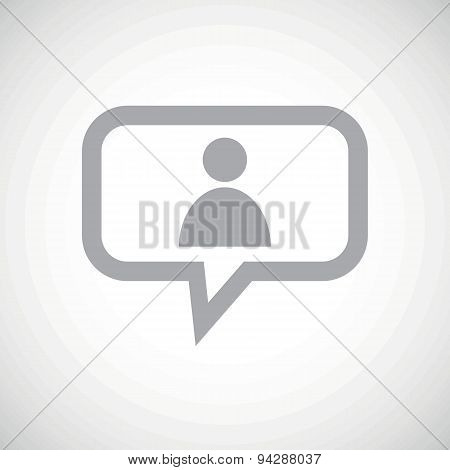 User grey message icon