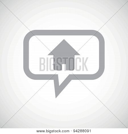 Home grey message icon