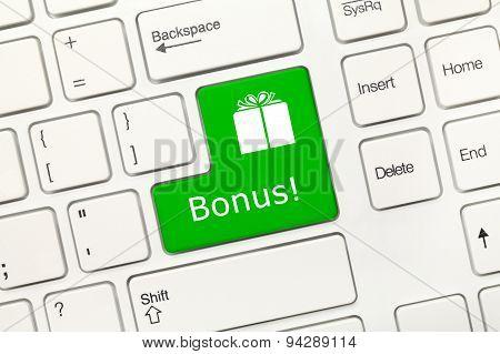 White Conceptual Keyboard - Bonus (green Key)