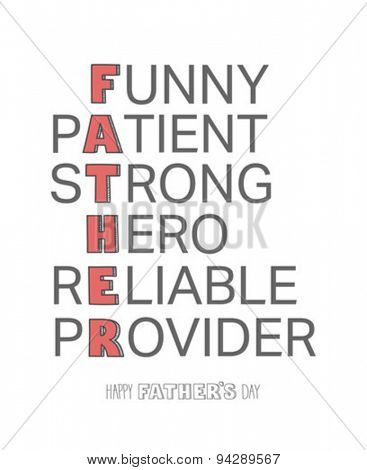 Digitally generated Fathers day greeting vector