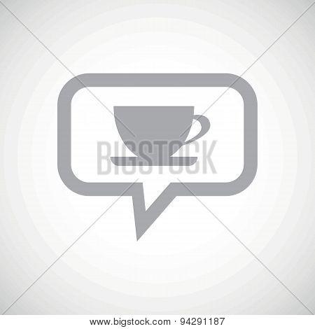 Cup grey message icon