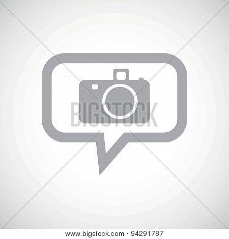 Camera grey message icon