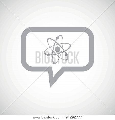 Atom grey message icon