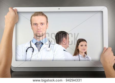 Healthcare online consulting concept