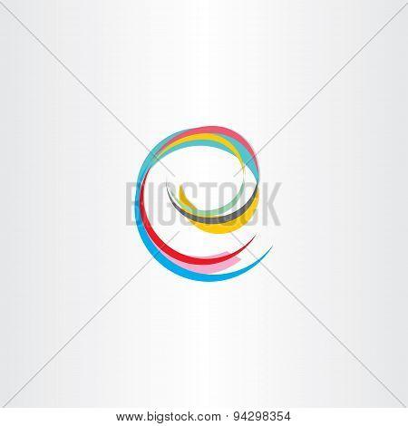 Letter E Colorful Symbol
