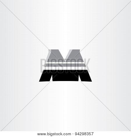 Letter M Black Icon Design