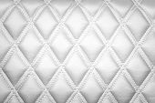 picture of diamond  - Leather diamond stripes brown color texture background White color - JPG