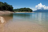 stock photo of damme  - Nam Ngum reservoir in Laos - JPG
