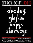 foto of handwriting  - English handwriting alphabet - JPG