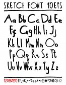 stock photo of handwriting  - English handwriting alphabet - JPG