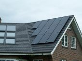 pic of environmentally friendly  - Modern design small solar panel for green environmentally friendly energy - JPG