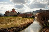 picture of bohemia  - Very old castle with spring countryside in Bohemia - JPG