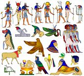 stock photo of bastet  - Vector illustration - various themes of ancient Egypt: 