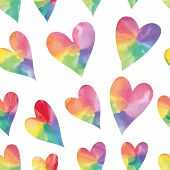 picture of heart  - Rainbow hearts - JPG