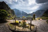 pic of volcanic  - a beautiful volcanic lake in the crater of mount Pinatubo on the island of luson Philippines the largest known eruption in the 20th century - JPG