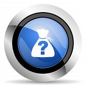 stock photo of riddles  - riddle icon  original modern design for web and mobile app on white background  - JPG